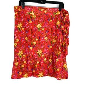 NWT Gap Wrap Floral Skirt
